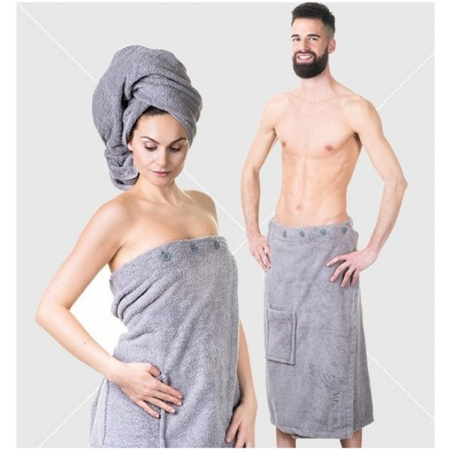 NordicSpa sauna kilt unisex 85*145cm, 100% cotton, grey