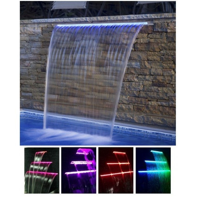 Water descent with RGB LED 906 x 263mm