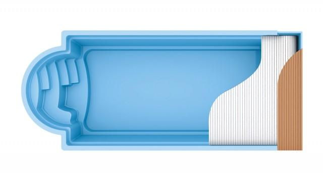 Fiberglass polyester (ceramic) pools