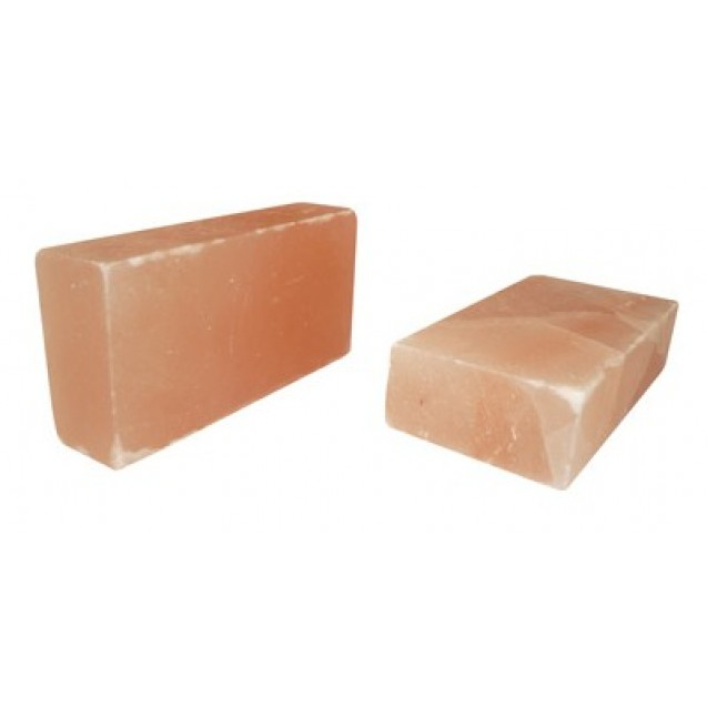 Himalayan red crystal salt brick, rectangle shape, size 20x10x5 cm