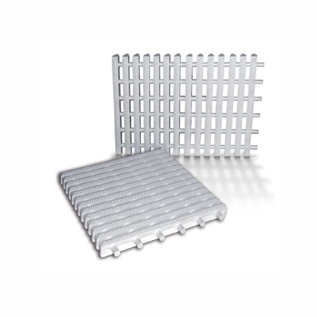 White plastic overflow trough grid 25 cm